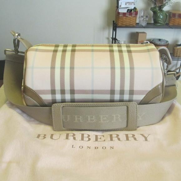 ea5ec3f287bf Burberry Handbags - Burberry Pink Nova Check Barrel Shoulder Bag